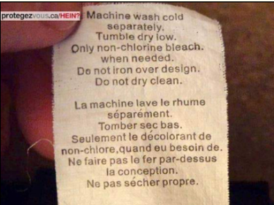 Exemple d'une traduction catastrophique