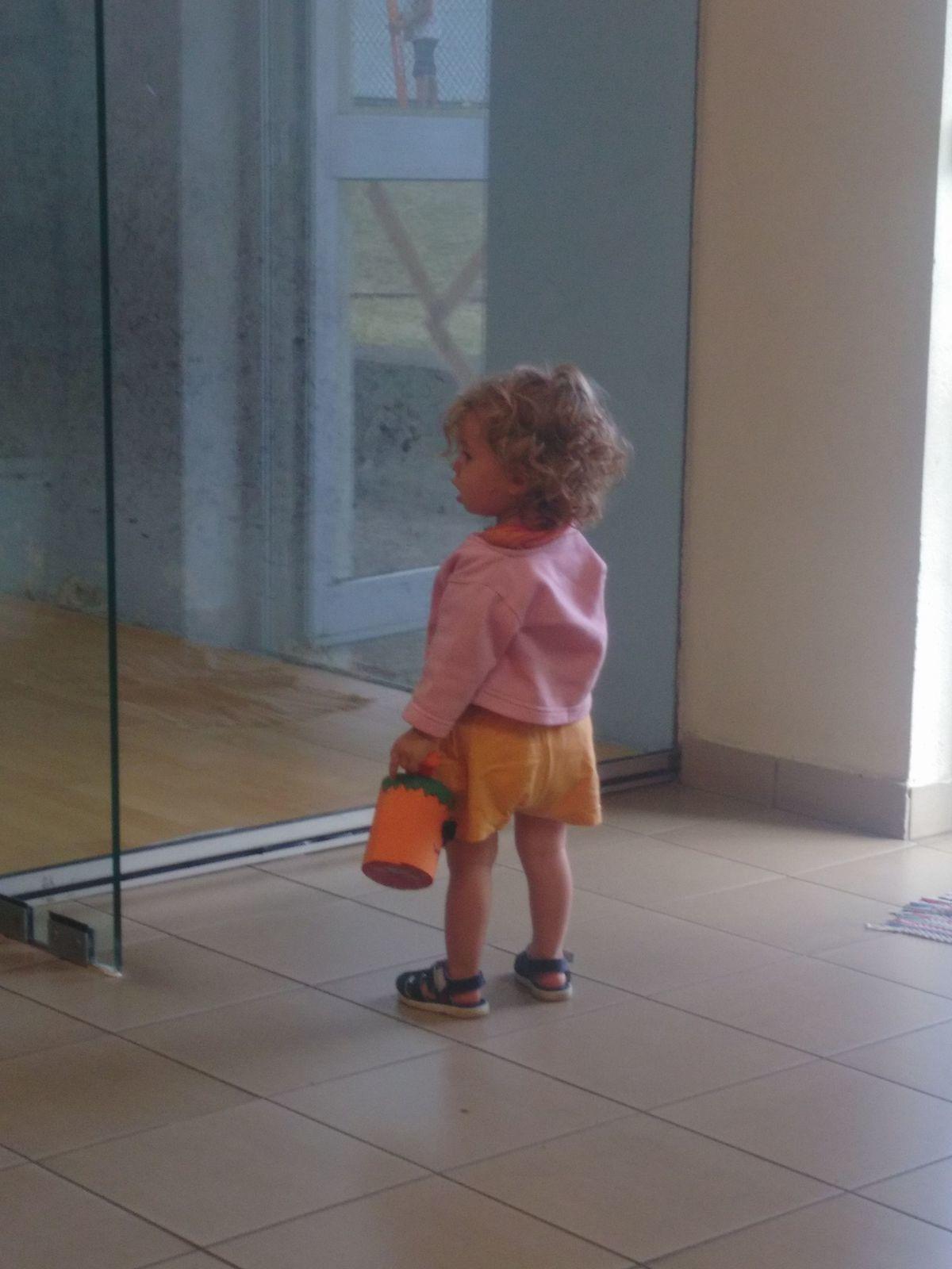 Madonie future joueuse de squash ou cavalière?