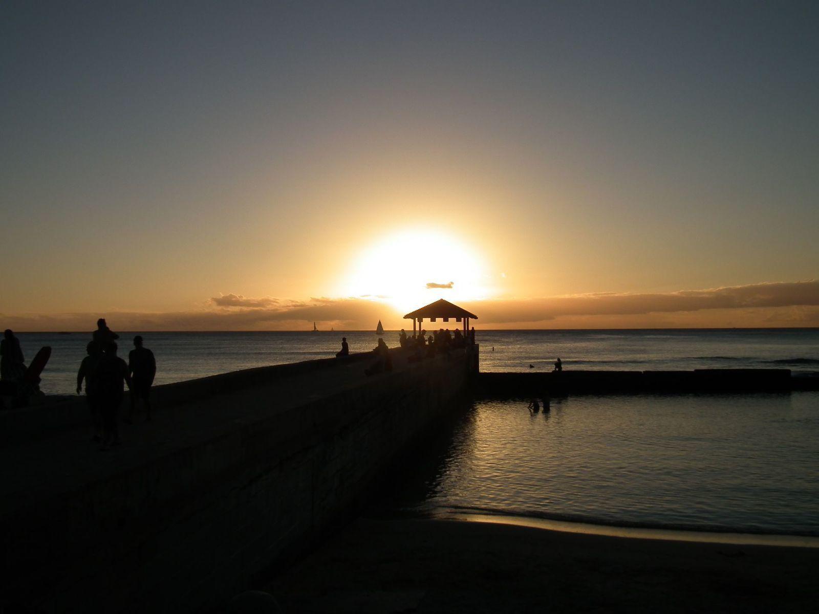 """Waikiki Beach et les """"cyclone addicts"""""""