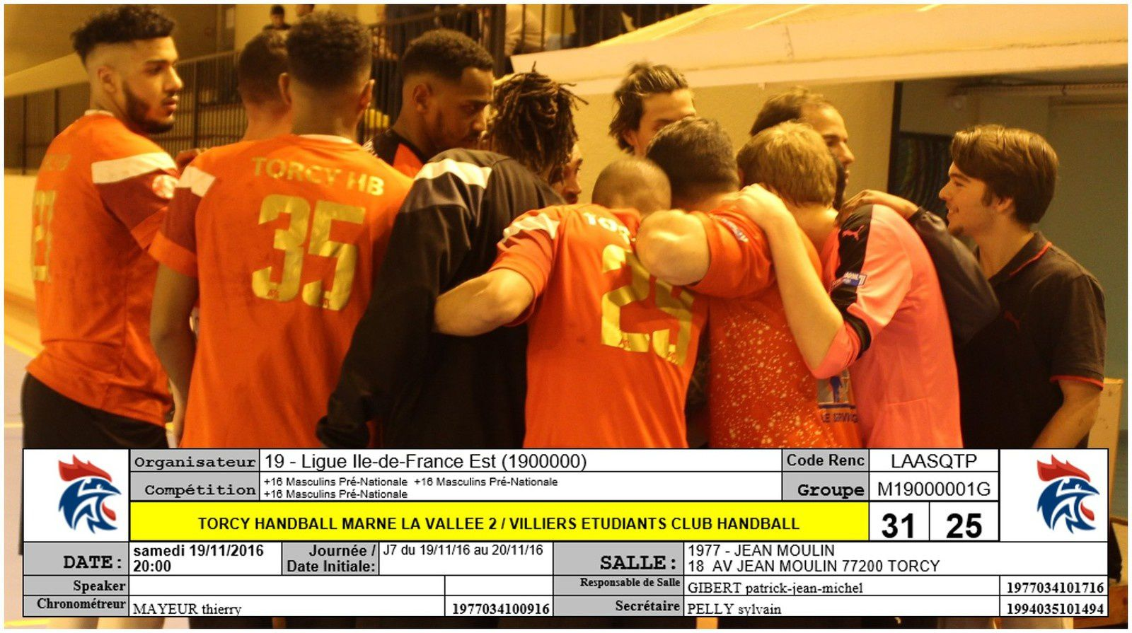 THBMLV 2 vs VILLIERS-SUR-MARNE (Pré-Nationale) 19.11.2016