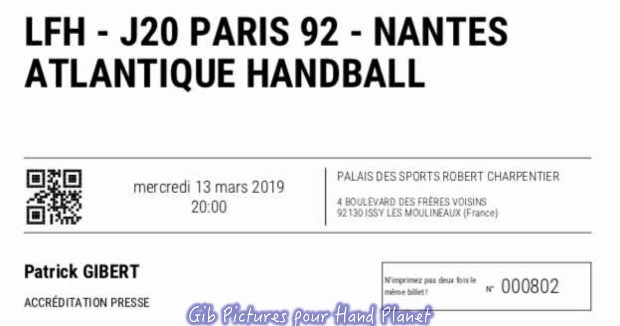 LFH | Paris Issy 92 vs Nantes (13.03.2019)