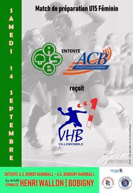 EBB U15F (prépa) | EBB vs Villemomble (14.09.2019)