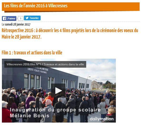 Les vœux de la municipalité de Villecresnes !!!