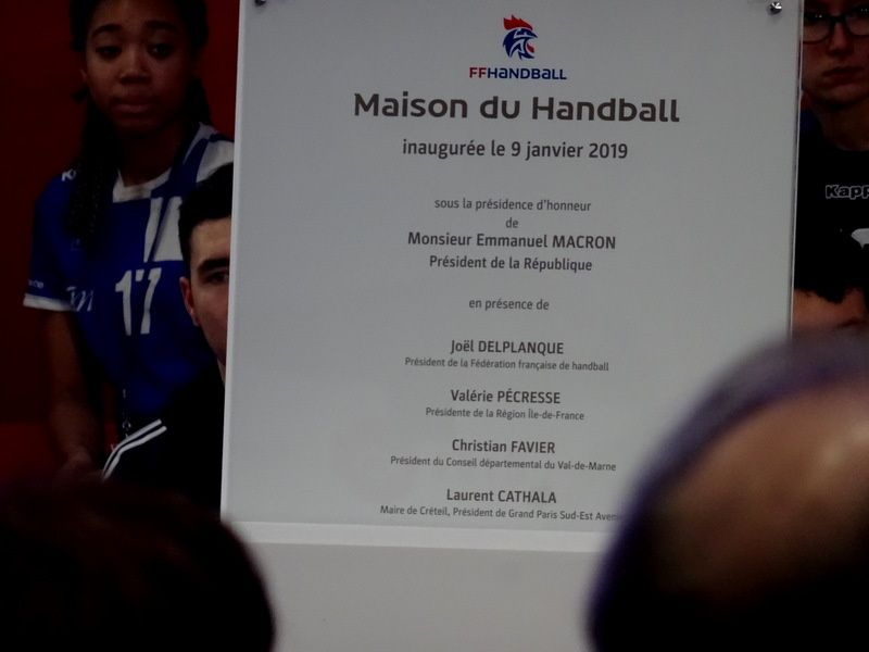 La Maison du HandBall est inaugurée !!!