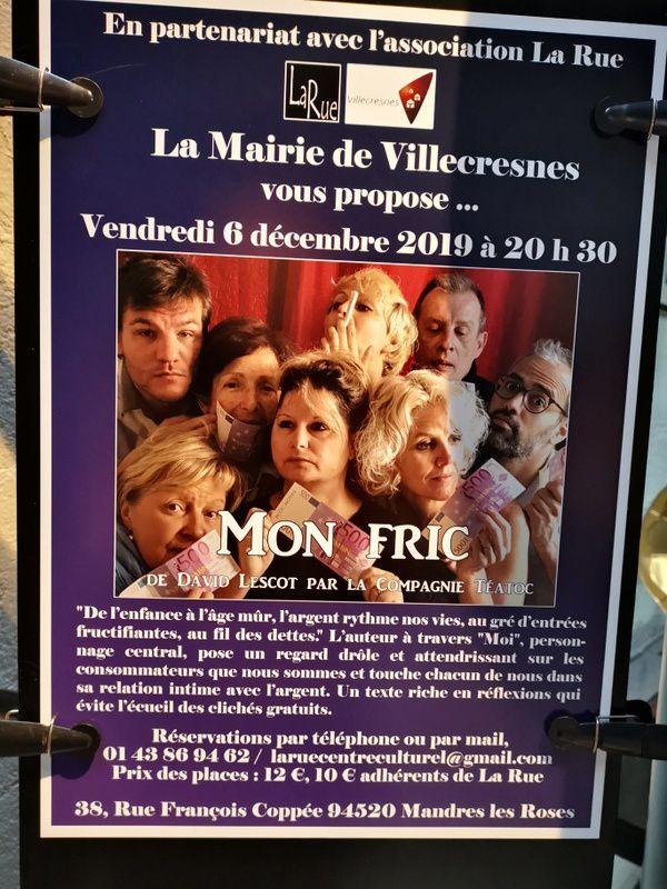 """Après """"le message"""", la semaine prochaine à La Rue, """"mon Fric"""" !!!!"""