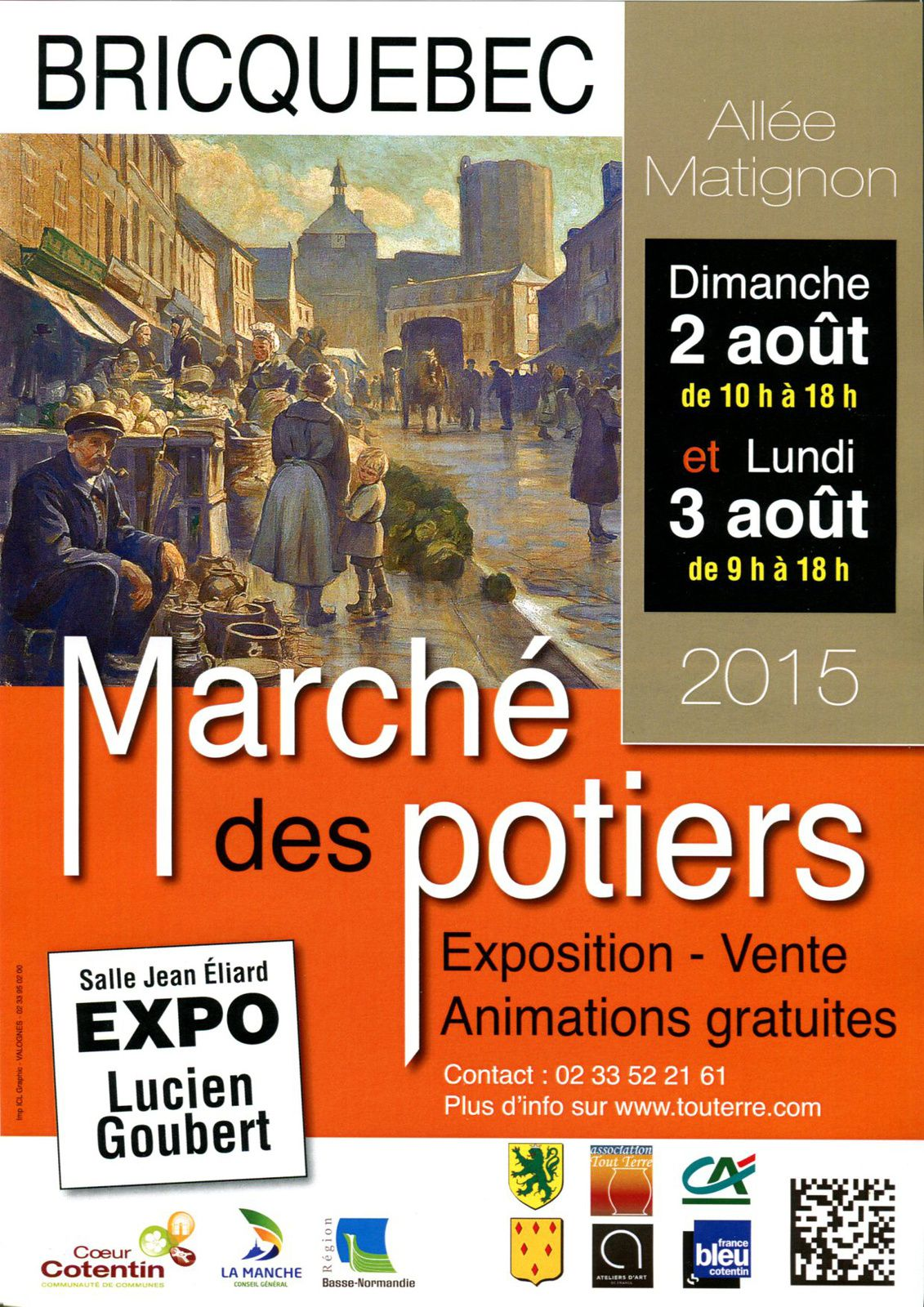 """Un """"Marché des potiers"""" à Bricquebec (Manche), 2 et 3 août 2015"""