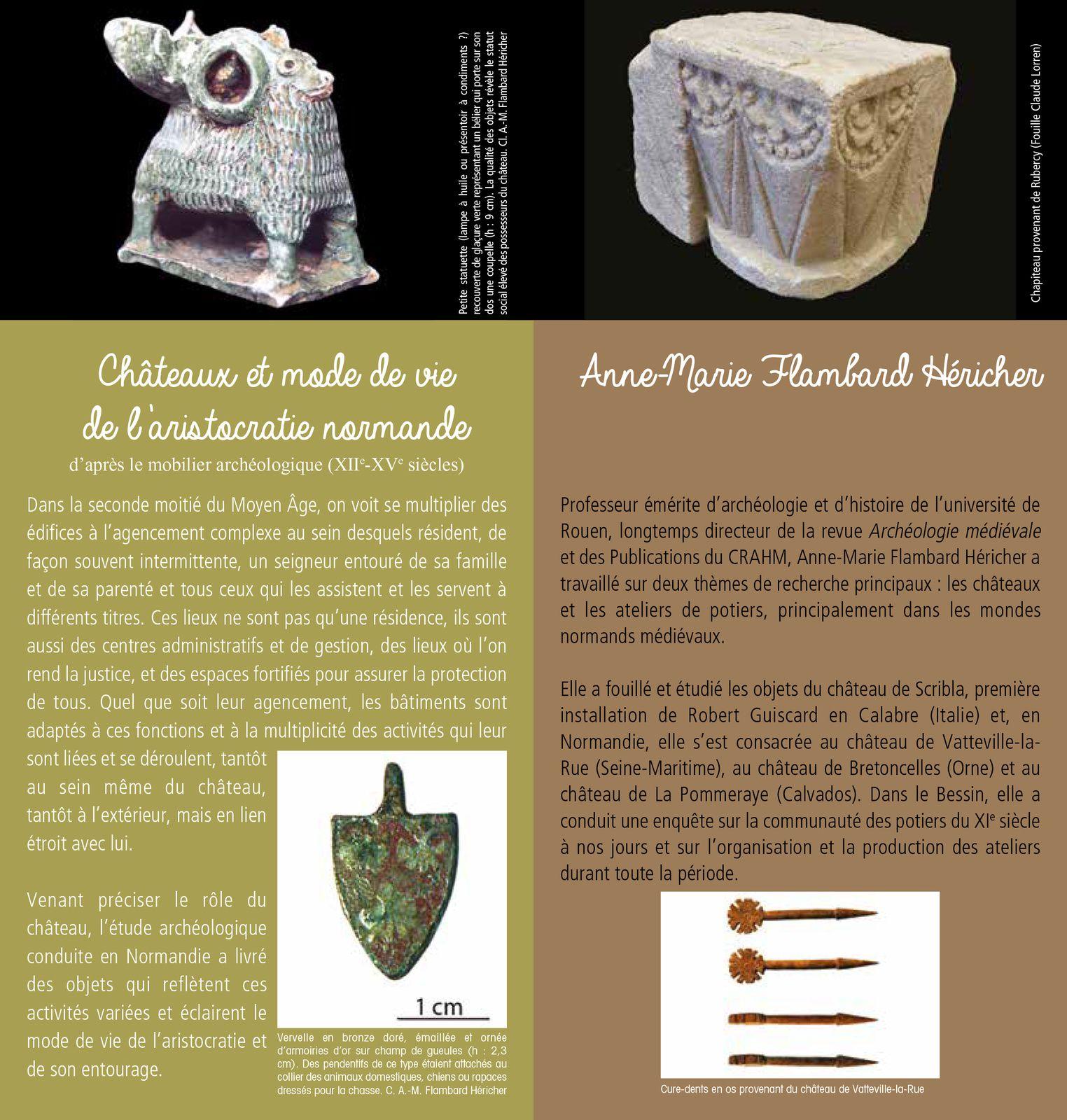 Châteaux et mode de vie de l'aristocratie normande d'après le mobilier archéologique (XIIe-XVe siècle) par Anne-Marie Flambard-Héricher