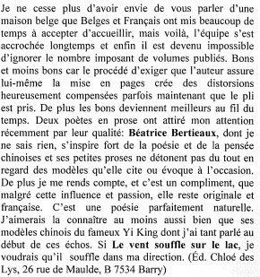 Dans l'Inédit... Béatrice Bertieaux