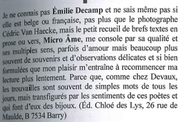 Emilie Decamp dans l'Inédit