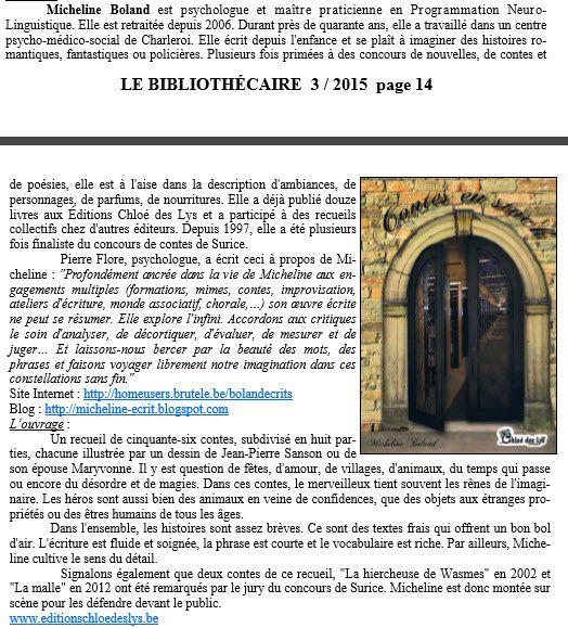 Contes en stock - Micheline Boland