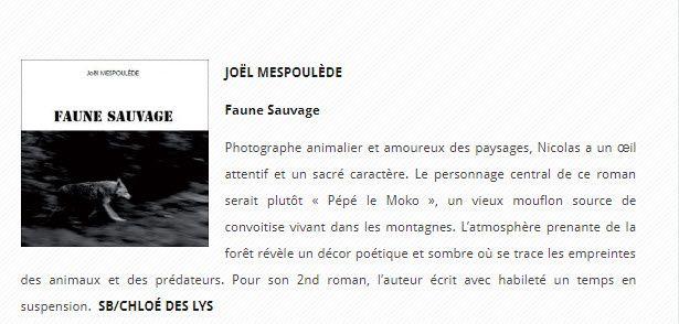 """""""Faune sauvage"""" de Joël Mespoulède dans le magazine IDEM"""