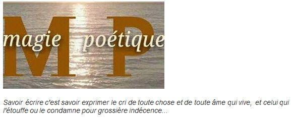 """Le destin créateur, un poème signé SALVATORE GUCCIARDO dans la revue """"Magie Poétique"""""""
