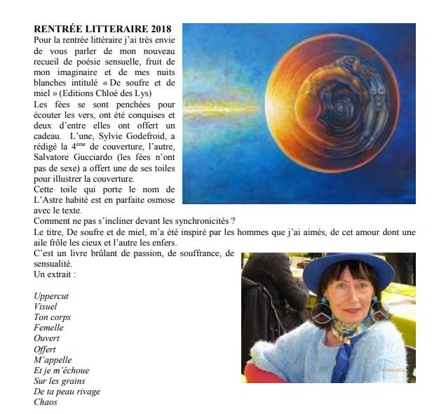 """Silvana Minchella dans """"Bruxelles culture"""" du 15 septembre"""