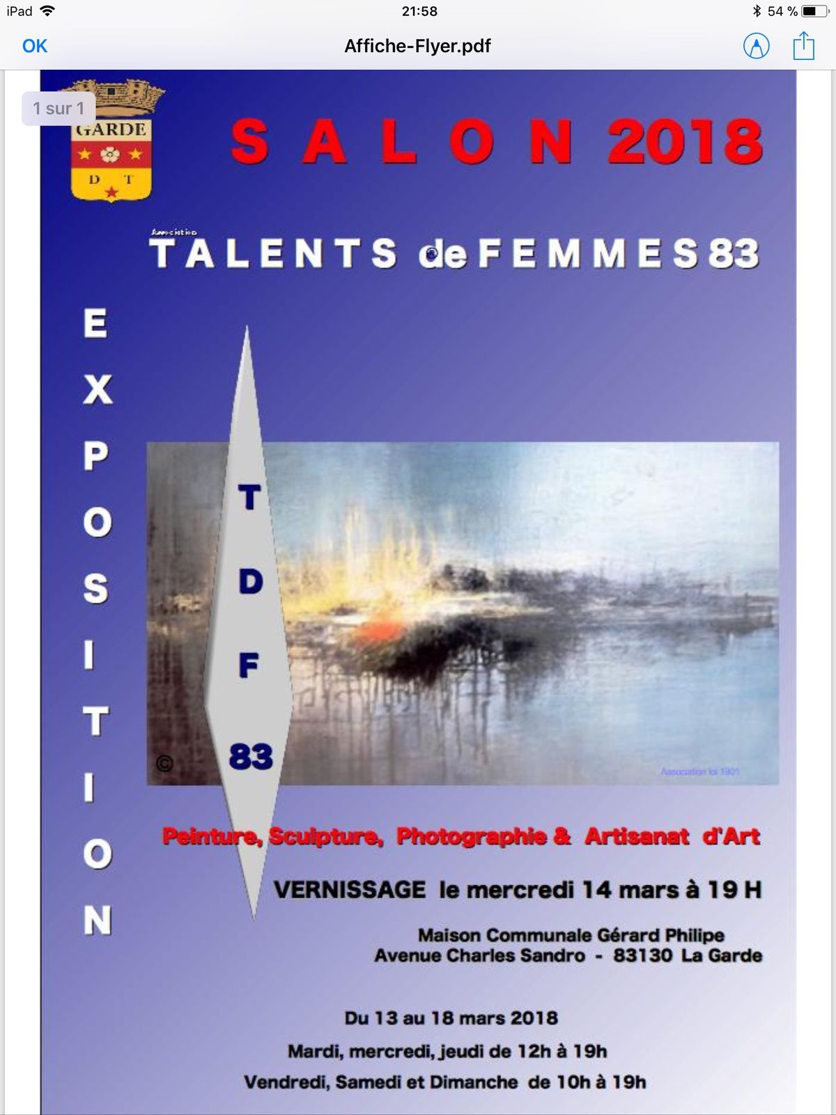 PARTICIPATION TALENT DE FEMMES LA GARDE