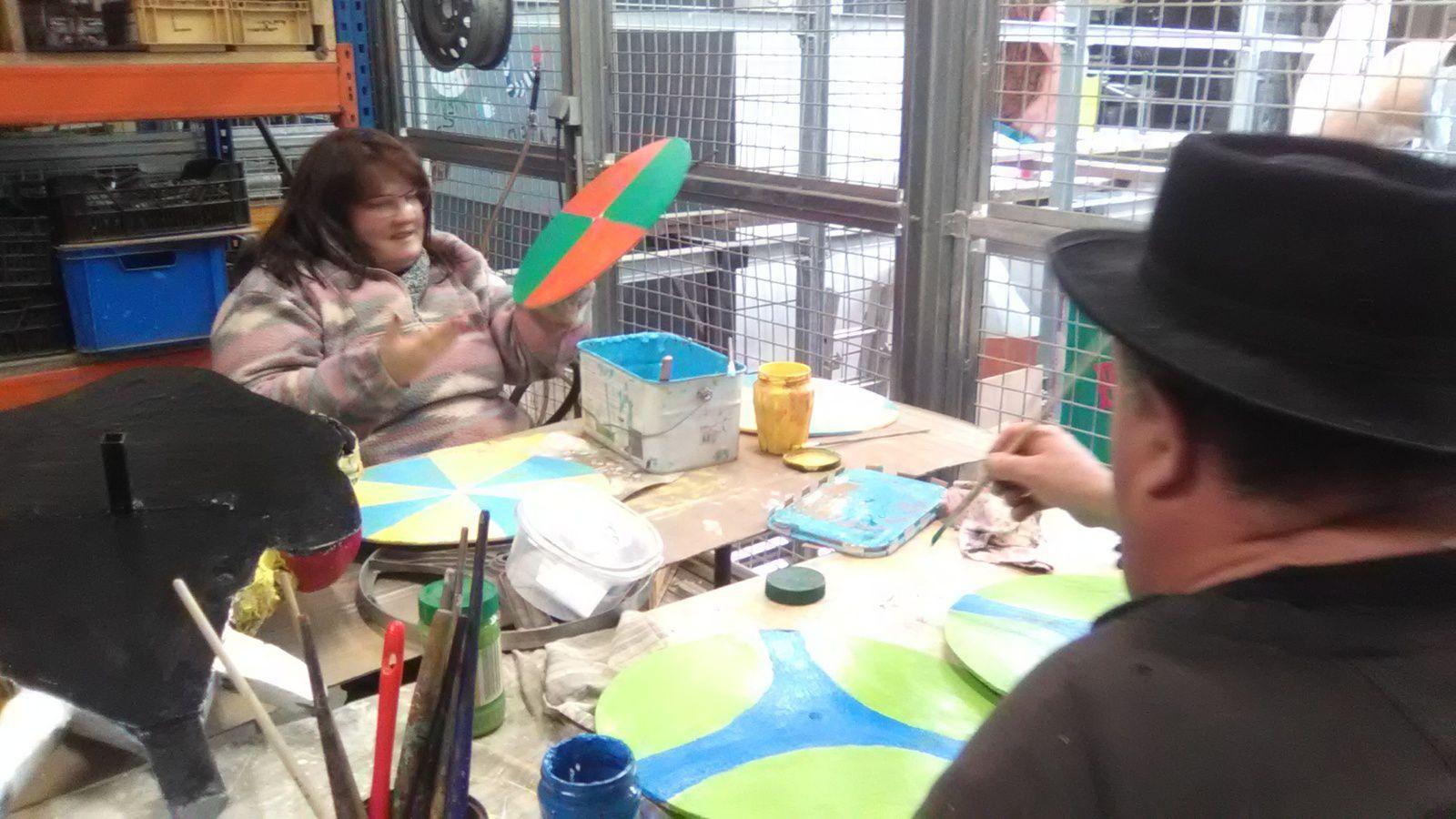 peinture des boucliers