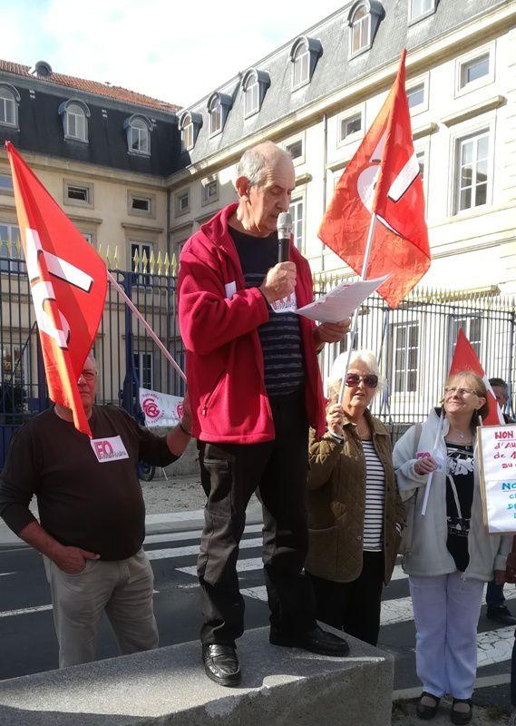 Rassemblement des retraités  contre les annonces gouvernementales