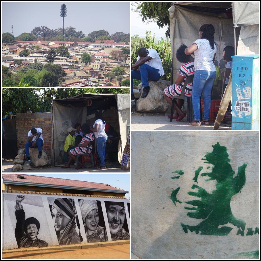 Les salons de coiffure sont dans les rues, et Nelson et Winnie Mandela sont partout !