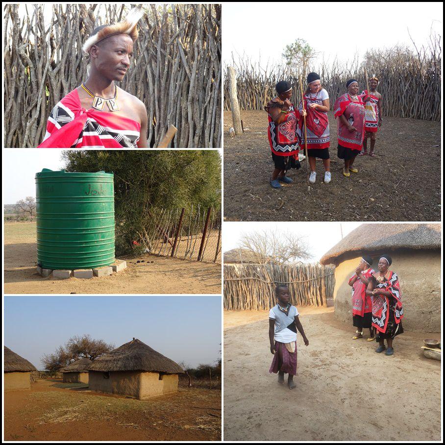 En vert, Le Jojo que l'on retrouve partout en Eswatini comme en Afrique du Sud : la réserve d'eau.