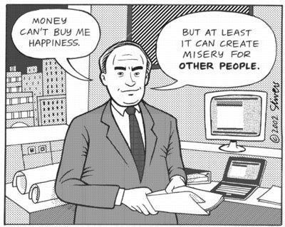 L'argent centralisé peut m'offrir un peu de bonheur - oui, pendant ce temps, il plonge pour cela d'autre humains dans le malheur.