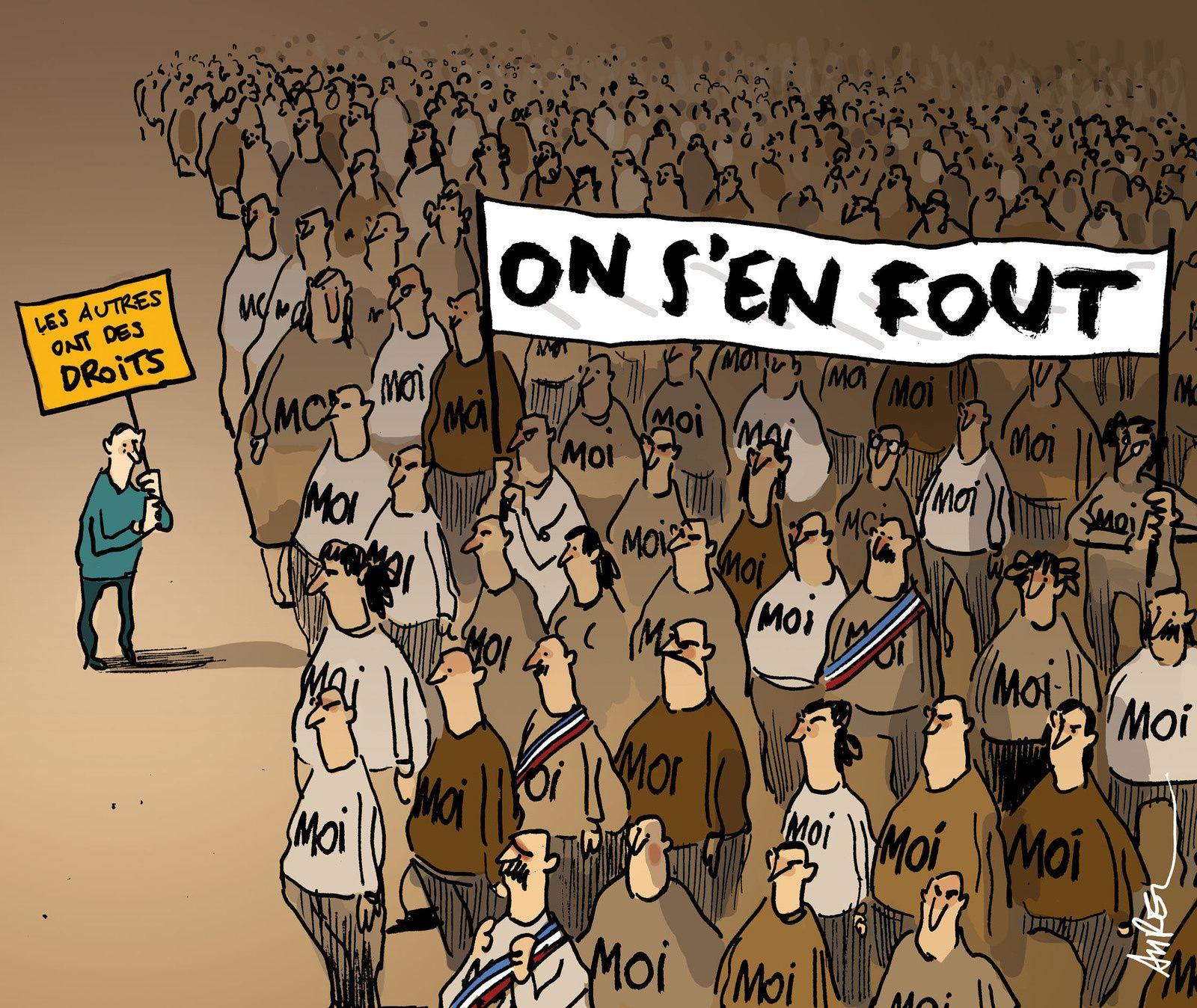 ...et son corollaire - l'individiualisme devient une drue matraque qui renforce l'oppression illégale actuelle !
