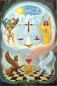 La balance (signe qui fut inséparable du scorpion dans la haute antiquité). Toute seule elle se débrouille très bien.
