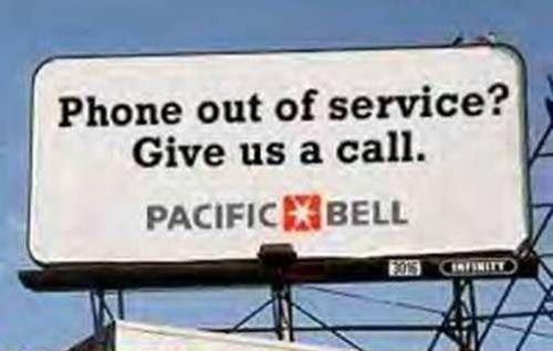 Téléphone hors service – appelez-nous donc !