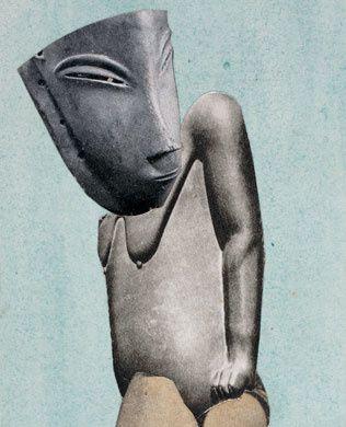 Hannah Höch, Aus einem ethnographischen  Museum (Denkmal l) 1924 Berlinische Galerie,