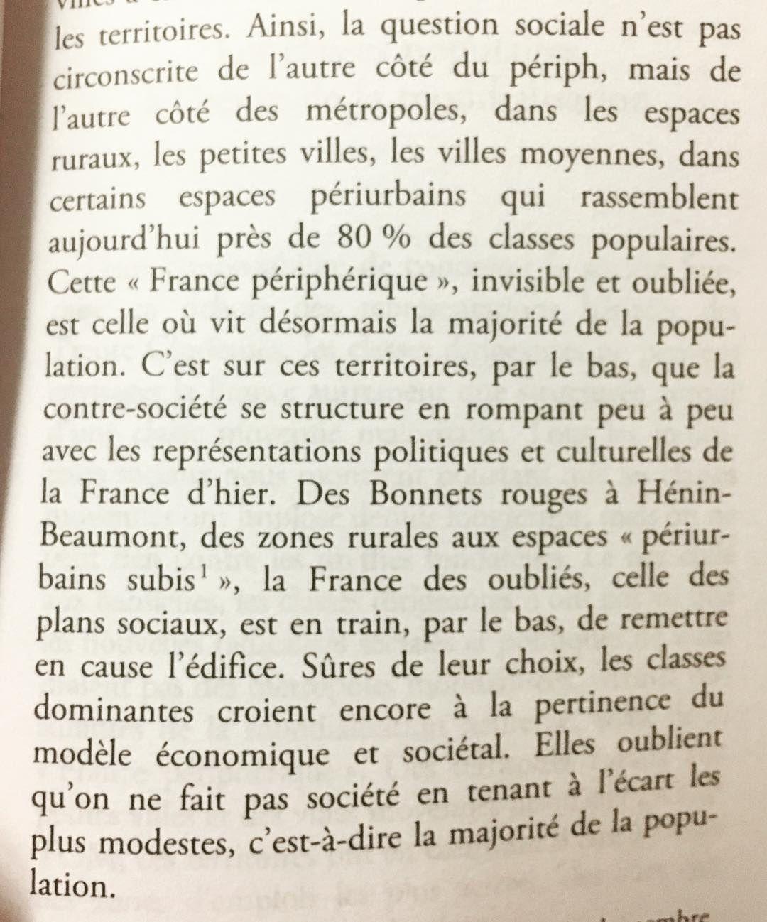 Une page qui résume très bien la France périphérique.