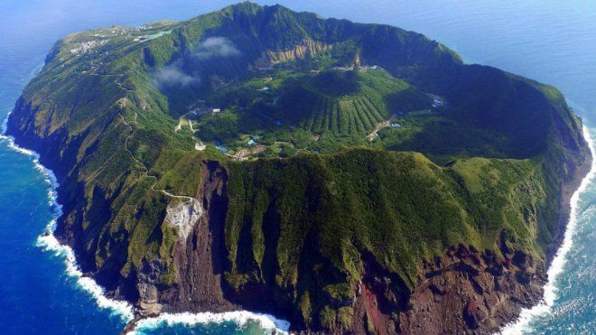 Le volcan Aogashima