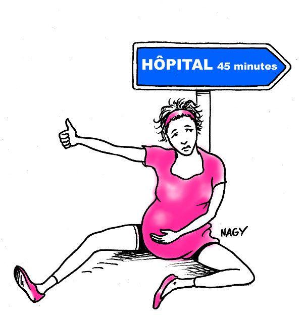 En 20 ans, le nombre de femmes vivant à plus de 45 minutes d'une maternité a doublé