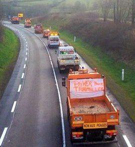 Contre la privatisation des routes et autoroutes les agents de la DIR centre est manifestent