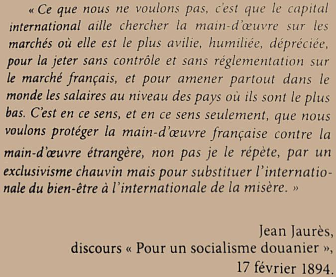 Jean Jaurès et son internationalisme « protectionniste »