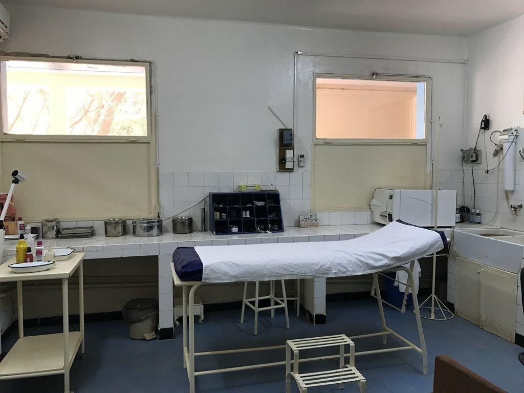 une salle de soins…