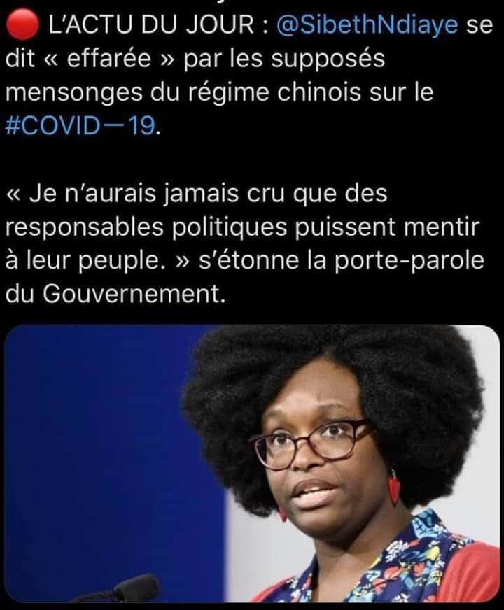 la super menteuse française nous la ressort…mais ça sonne toujours plus faux !!