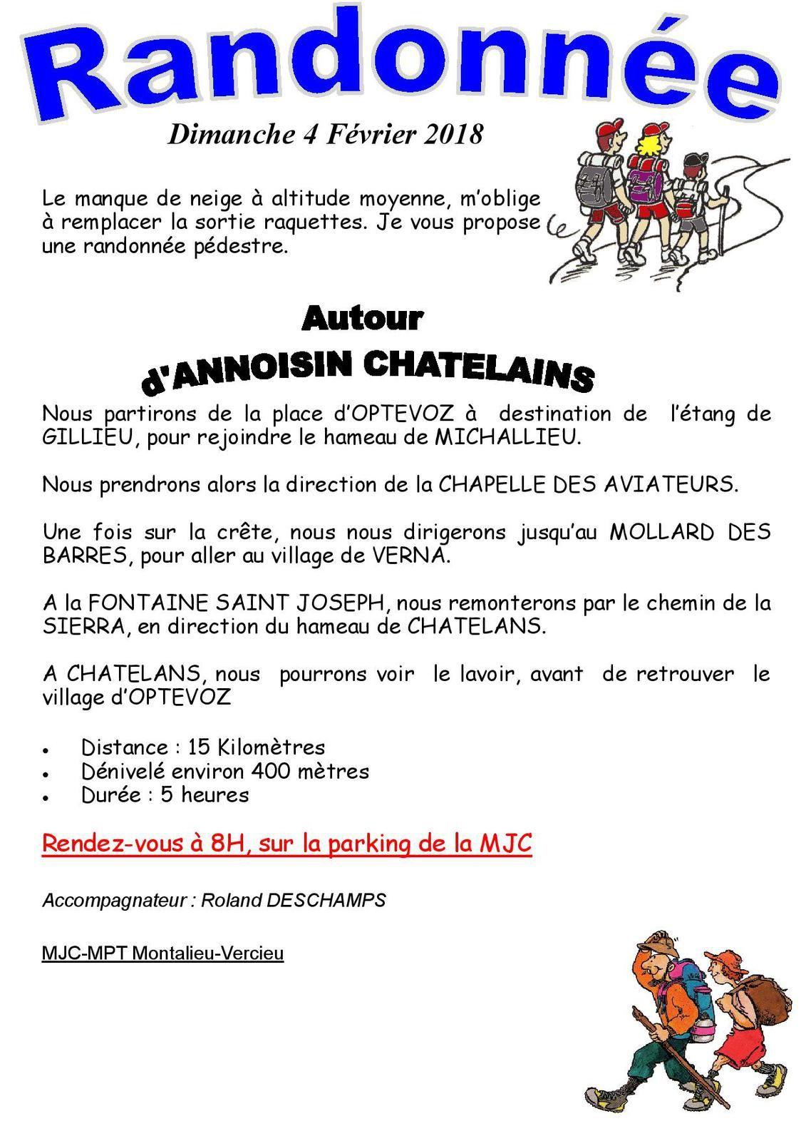 """Randonnée autour  """"D'ANNOISIN CHATELANS"""""""
