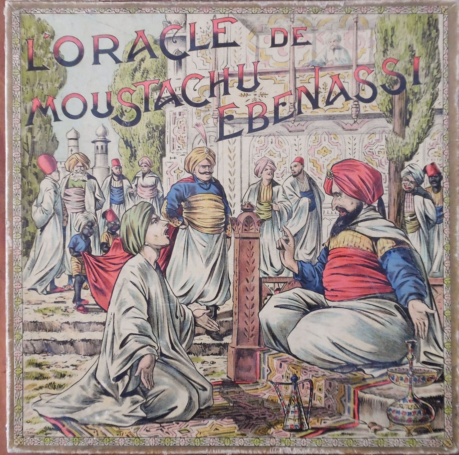 l'oracle du moustachu Ebenassi , jeu de Saussine