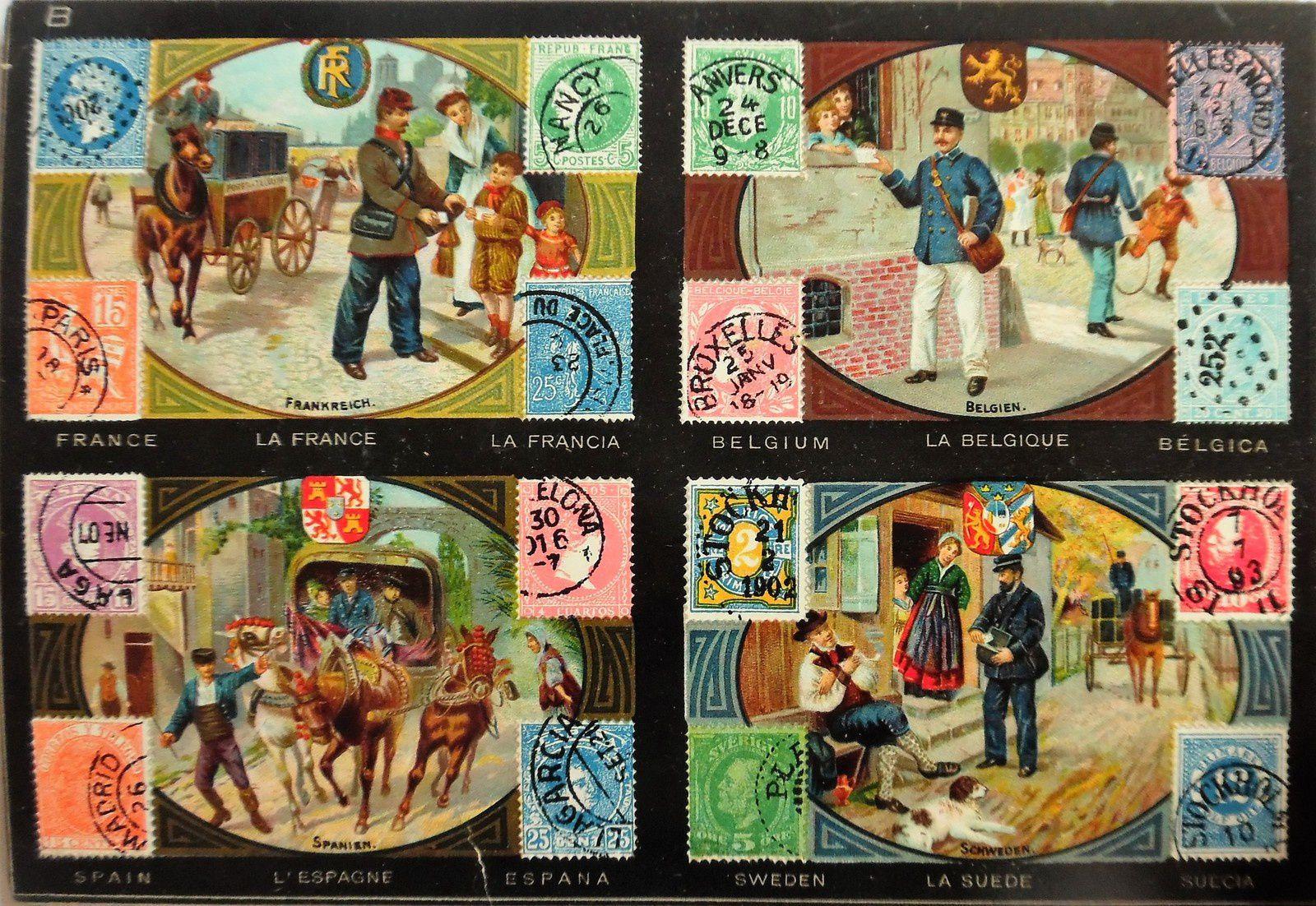 carton du loto des timbres-postes de JWS Bavaria