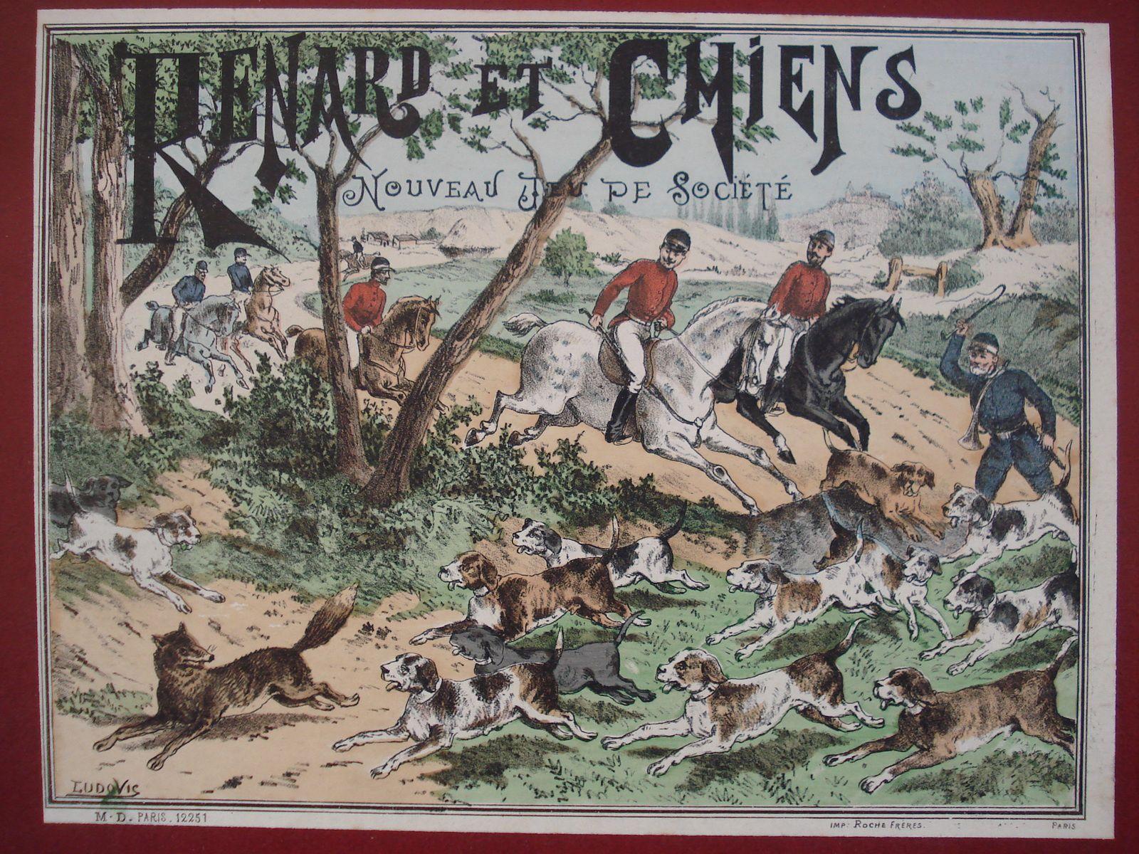 Renards et chiens, jeu de MD illustré par Ludovic