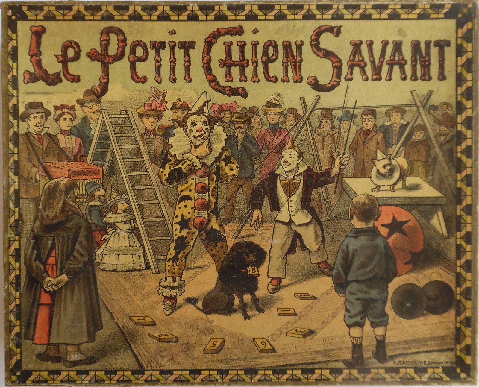 le petit chien savant, par L. Saussine