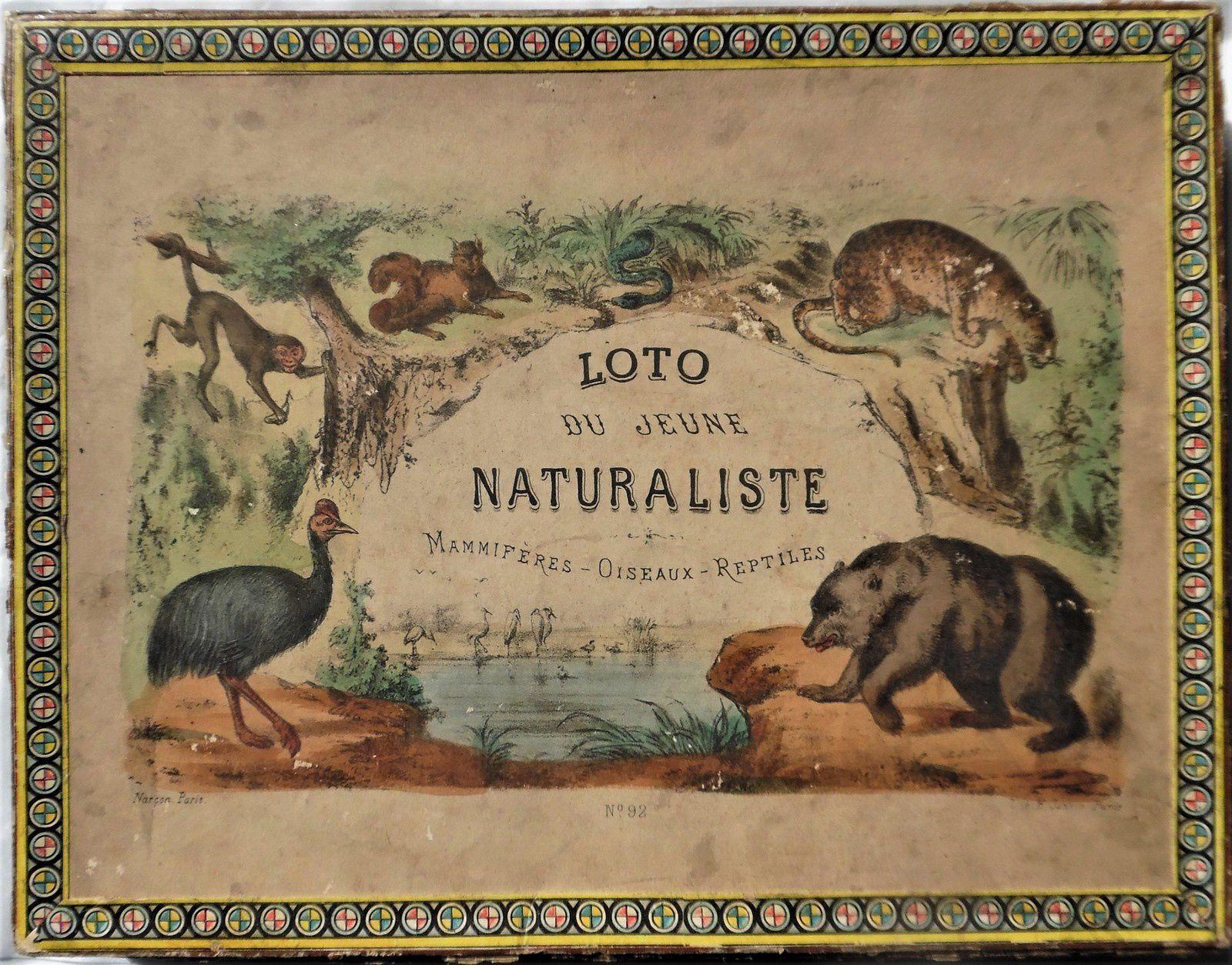 loto du jeune naturaliste de Narçon     litho Jannin , 28x22 cm