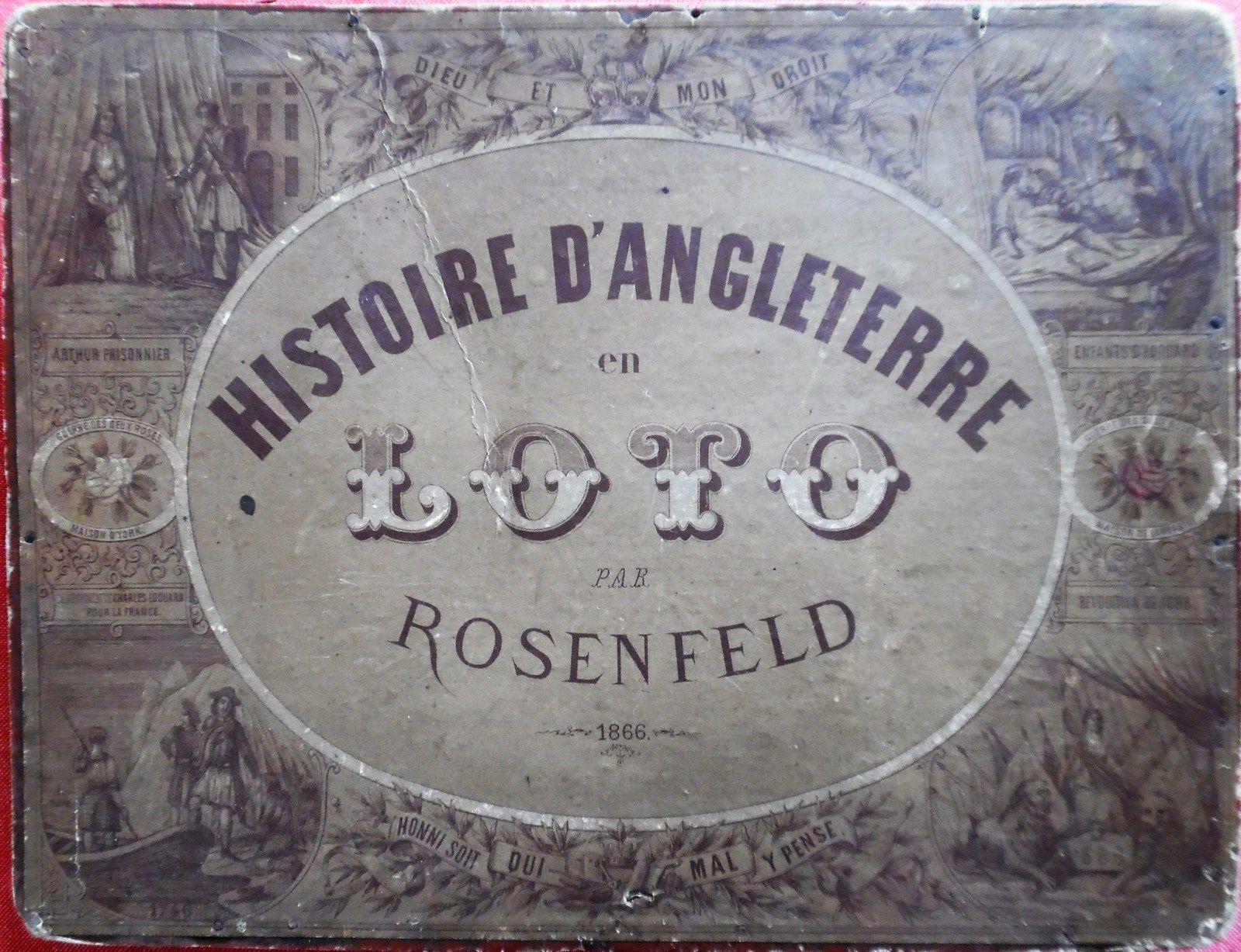 Histoire d'Angleterre, loto de Rosenfeld (1866)