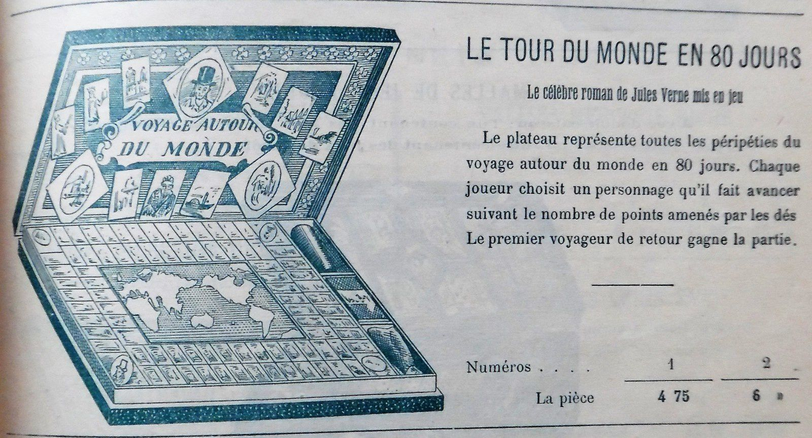 le tour du monde en 80 jours, catalogue MD