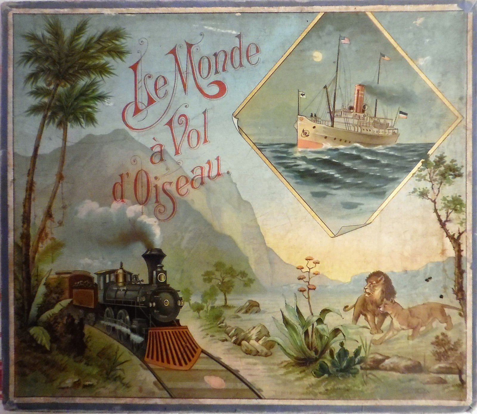 En automobile (MD), à bicyclette (Wx), à vol d'oiseau (Sala) , par terre et mer (Saussine)