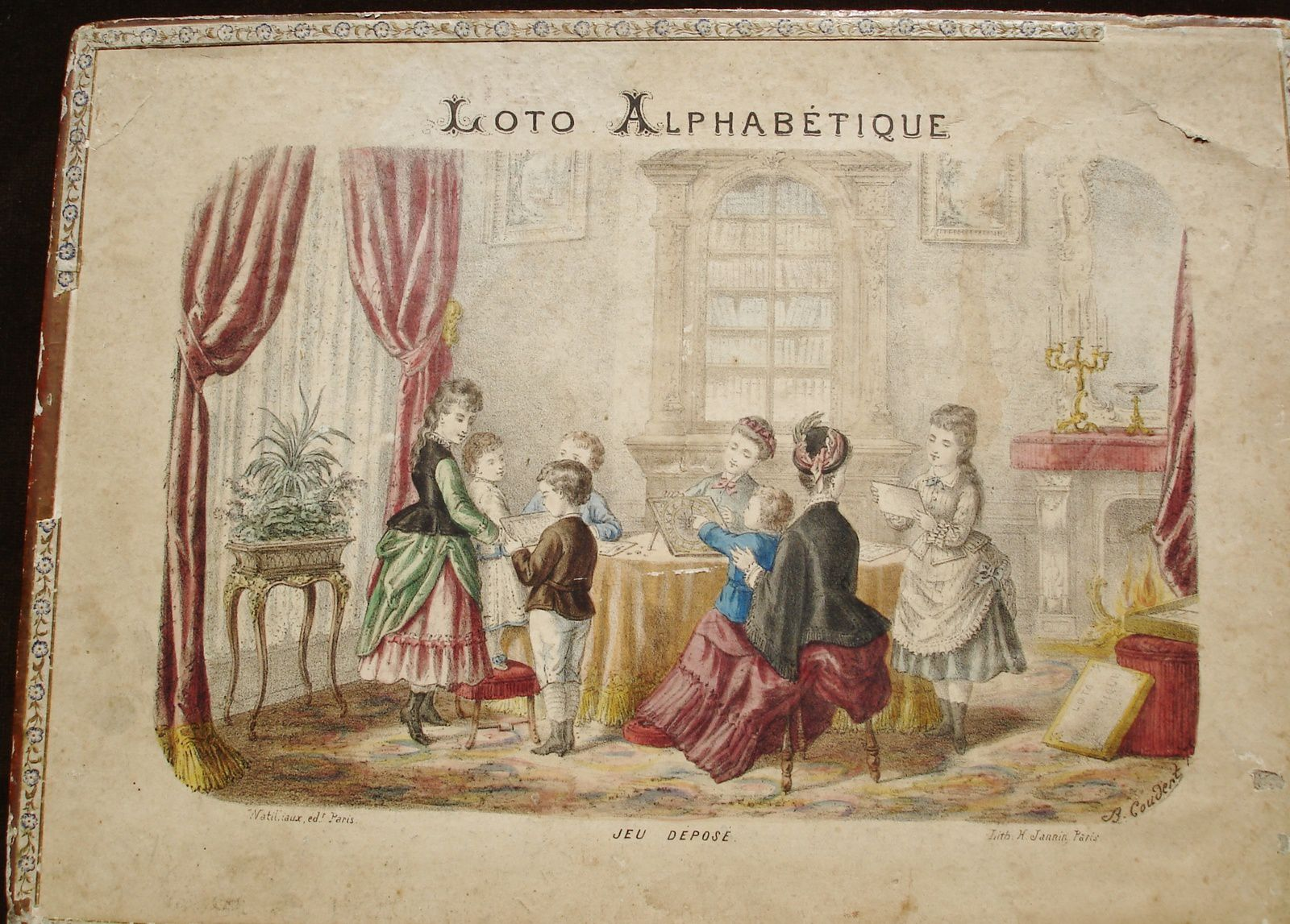 coffret de loto alphabétique,collection Michelle D.