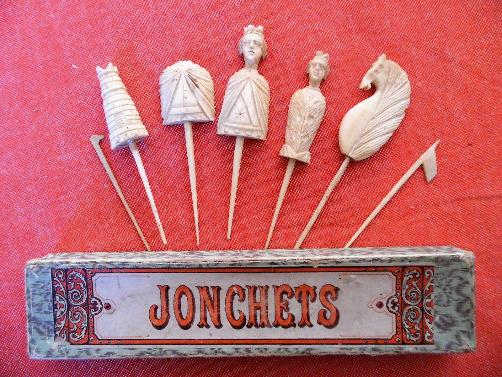 jonchets,pièces principales ( avec roi décapité )
