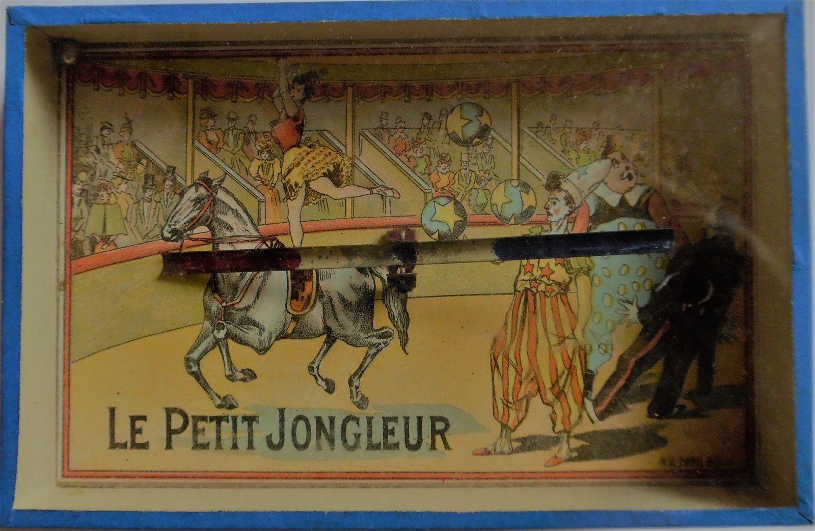 le petit jongleur, il faut amener la bille sur la rampe basculante...