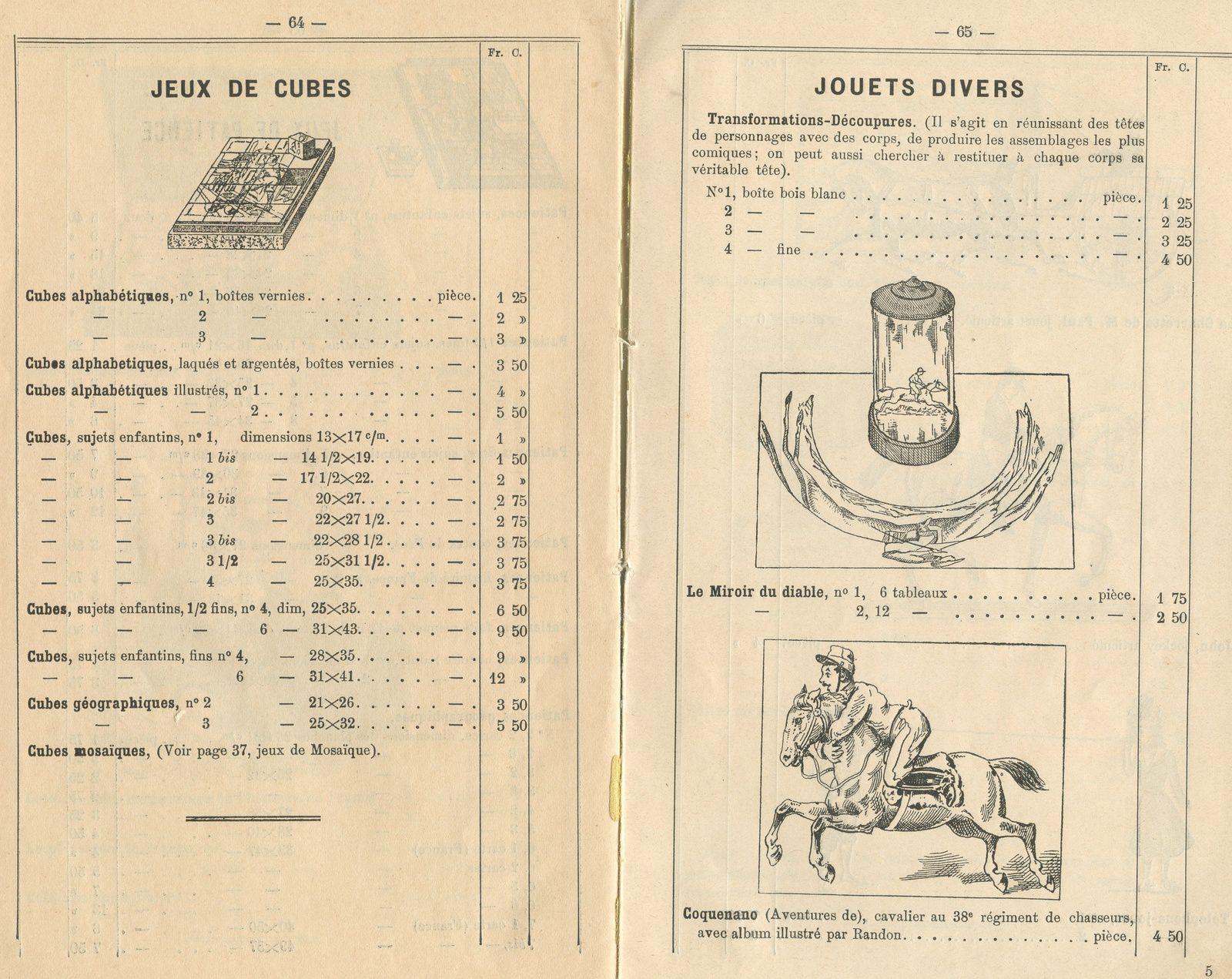jeux WATILLIAUX : le catalogue 1903