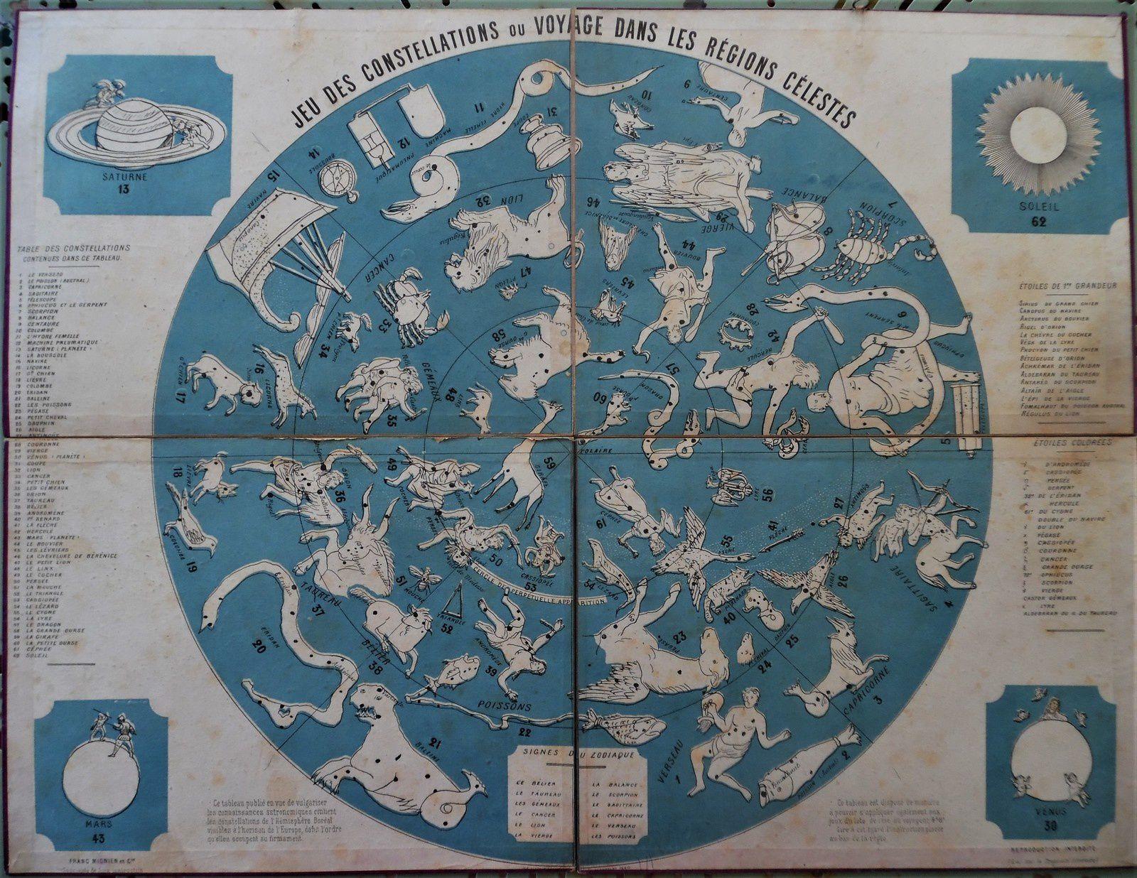carte des constellations de l'hémisphère boréal