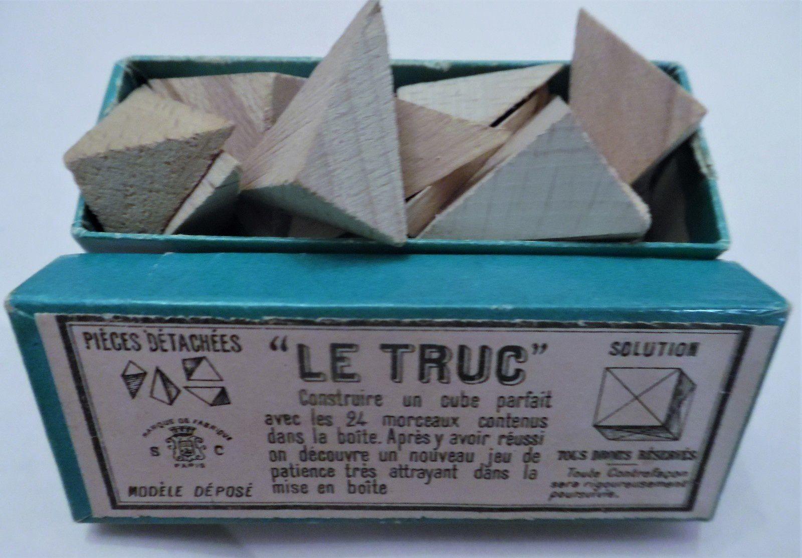 le truc (24 pièces pour former un seul cube, et puis ranger dans la boîte!)