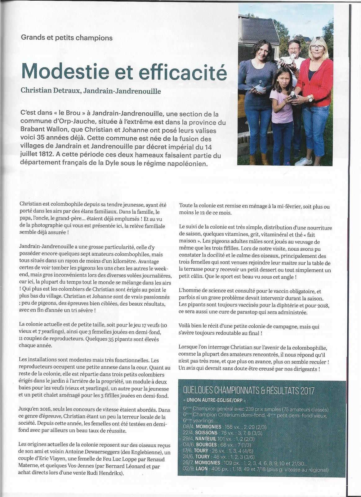 "MES REPORTAGES DANS LA REVUE INTERNATIONALE ""PIGEON RIT"" (New) !"